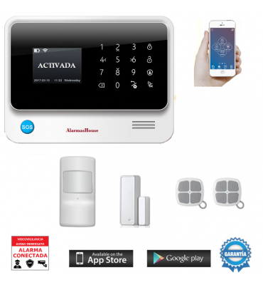 ALARMA DE SEGURIDAD WIFI, GSM 3G, GPRS, ANDROID E IOS CON DOMÓTICA