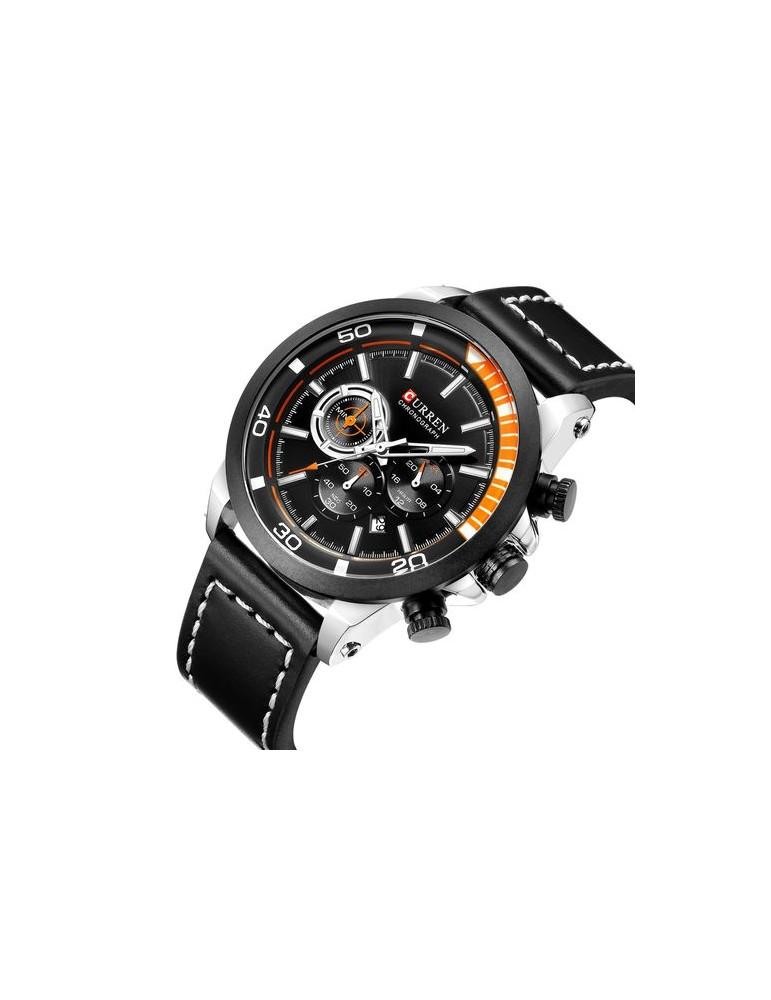 766907edcc8e Reloj para hombre marca Curren de acero inoxidable y goma
